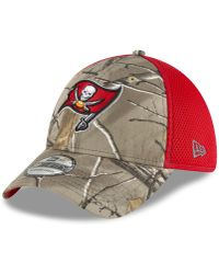 KTZ - Tampa Bay Buccaneers Realtree Camo Team Color Neo 39thirty Cap - Lyst 82ff41b89
