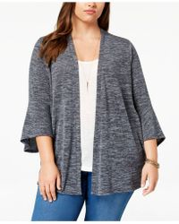 Style & Co. - Plus Size Lantern-sleeve Open Cardigan, Created For Macy's - Lyst