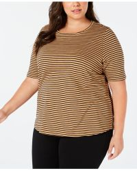 Eileen Fisher - Plus Size Round-neck Elbow Sleeve Top - Lyst