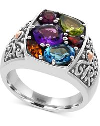 Effy Collection - Multi-gemstone Statement Ring (3 Ct. T.w.) And In Sterling Silver - Lyst