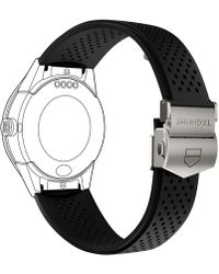 Tag Heuer - Modular Connected 2.0 Black Perforated Rubber Smart Watch Strap 1ft6076 - Lyst