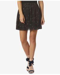 Avec Les Filles - Floral-print Pleated Mini Skirt - Lyst
