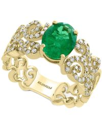 Effy Collection - Emerald (1-1/2 Ct. T.w.) And Diamond (1/3 Ct. T.w.) Ring In 14k Gold - Lyst
