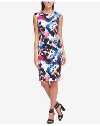 DKNY - Printed Sheath Dress, Created For Macy's - Lyst
