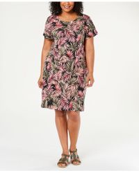 28b5288e76a0 Karen Scott Petite Boat-neck Elbow-sleeve Dress, Created For Macy's in Pink  - Save 27% - Lyst