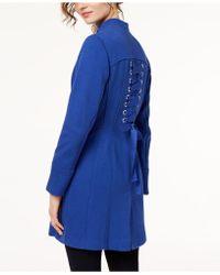 INC International Concepts | Stand-collar Ponté-knit Zip Coat | Lyst