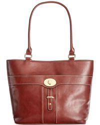 Giani Bernini - Turn-lock Glazed Tote, Created For Macy's - Lyst