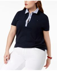 bd989edf013f8 Tommy Hilfiger - Plus Size Chambray-collar Polo Top