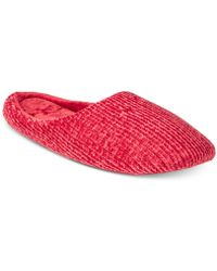 Charter Club - Chenille-knit Scuff Slippers, Created For Macy's - Lyst
