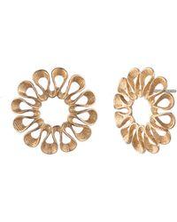 Trina Turk - Vintage Flower Oversized Stud Earrings - Lyst