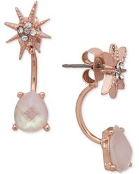 Lonna & Lilly - Star Crystal & Stone Front & Back Earrings - Lyst