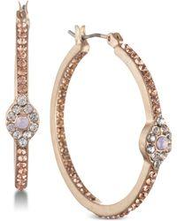 Lonna & Lilly - Gold-tone Crystal Evil Eye Hoop Earrings - Lyst