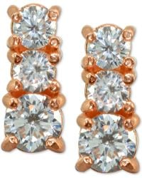 Giani Bernini - Cubic Zirconia Graduated Stud Earrings In Sterling Silver, Created For Macy's - Lyst
