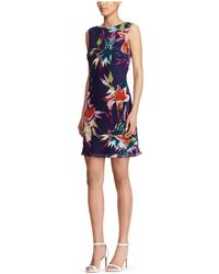 American Living - Floral-print Fit & Flare Dress - Lyst