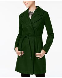 Laundry by Shelli Segal - Asymmetrical Walker Coat - Lyst