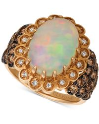 Le Vian - ® Neopolitan Opal (3 Ct. T.w.), Chocolate (3/4 Ct. T.w.) And Vanilla (1/10 Ct. T.w.) Statement Diamond Ring In 14k Rose Gold - Lyst