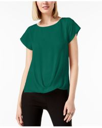 INC International Concepts - I.n.c. Draped-hem Top, Created For Macy's - Lyst