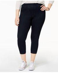 Hue - Plus Size Original Denim Capri Leggings - Lyst