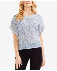 Vince Camuto - Drop-shoulder Ruffle-sleeve Top - Lyst