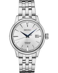 Seiko - Automatic Presage Stainless Steel Bracelet Watch 40.5mm - Lyst