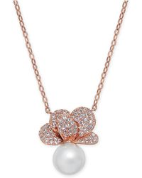 "Danori - Imitation Pearl & Crystal Pavé Pendant Necklace 16"" + 2"" Extender, Created For Macy's - Lyst"