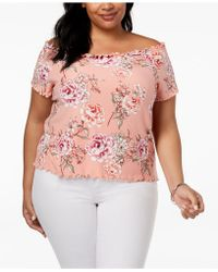 d5021fbc025 Derek Heart - Trendy Plus Size Off-the-shoulder Top - Lyst