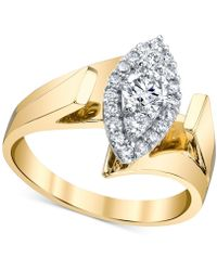 Macy's - Diamond Marquise-shape Ring (5/8 Ct. T.w.) In 14k Gold & White Gold - Lyst