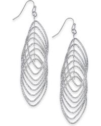 INC International Concepts - I.n.c. Navette Multi-ring Drop Earrings, Created For Macy's - Lyst