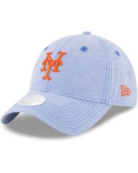 KTZ - New York Mets Team Linen 9twenty Strapback Cap - Lyst