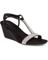 Style & Co. - Mulan 2 Embellished Evening Wedge Sandals, Created For Macy's - Lyst