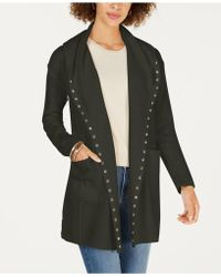 Style & Co. - Stud-embellished Hooded Cardigan, Created For Macy's - Lyst