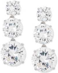Giani Bernini - Cubic Zirconia Graduated Drop Earrings In Sterling Silver, Created For Macy's - Lyst