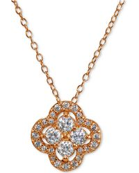 Giani Bernini | Cubic Zirconia Halo Cluster Pendant Necklace | Lyst