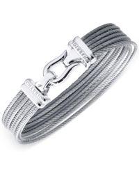 Charriol - Women's Silver-tone Cable Bangle Bracelet - Lyst
