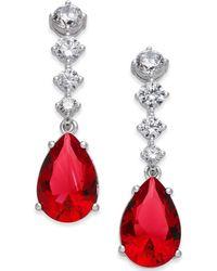 Danori - Silver-tone Multi-crystal Teardrop Drop Earrings - Lyst