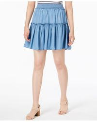 Maison Jules - Tiered Pull-on Skirt, Created For Macy's - Lyst