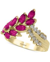 Effy Collection - Certified Ruby (2 Ct. T.w.) And Diamond (1/4 Ct. T.w.) Ring In 14k Gold - Lyst