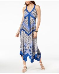 INC International Concepts - I.n.c. Petite Printed Handkerchief-hem Maxi Dress, Created For Macy's - Lyst