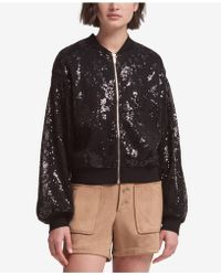 DKNY - Sequined Bomber Jacket, Created For Macy's - Lyst