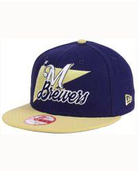 KTZ - Milwaukee Brewers Logo Stacker 9fifty Snapback Cap - Lyst