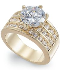 Charter Club - Gold-tone Crystal Triple-row Ring - Lyst