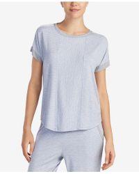 DKNY - Contrast-trim Pajama Top - Lyst