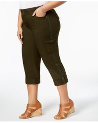fa8692cde60 Lyst - Style   Co. Plus Size Capri Cargo Pants in Natural