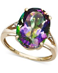 Macy's - Mystic Topaz (7-1/6 Ct. T.w.) And Diamond Accent Oval Ring In 14k Gold - Lyst