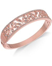 Charter Club - Rose Gold-tone Crystal Filigree Bangle Bracelet, Created For Macy's - Lyst