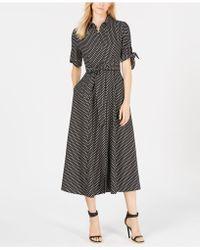 Calvin Klein - Polka Dot Belted Maxi Shirtdress, Regular & Petite - Lyst