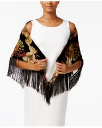 INC International Concepts | Velvet Floral Triangle Scarf | Lyst