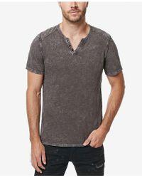 Buffalo David Bitton - Karwayne Henley T-shirt - Lyst