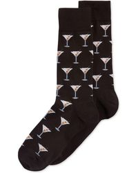 Hot Sox - Martini Crew Socks - Lyst