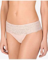 Natori - Lace-waist Thong 771152 - Lyst